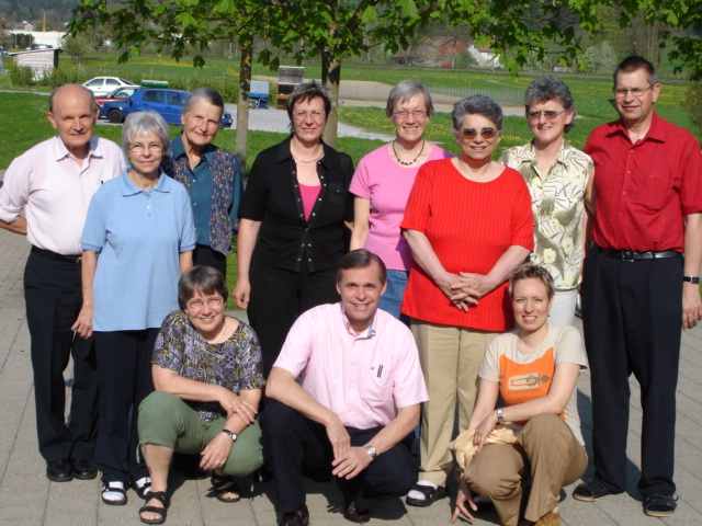 Ken and Sylvia Thornberg with their Swiss ministry teams