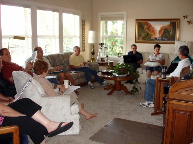 Photo of a Freedom Encounters team meeting