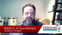 Click this image to watch a testimony video from FE Team Member Gene Schreiber