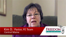 Click this image to watch a testimony video from FE Team Member Kim Dickson